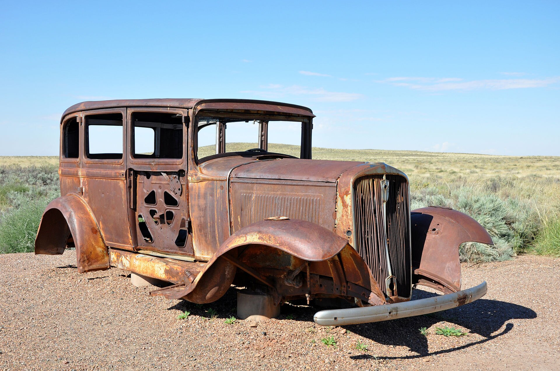 Route 66 car petrified forest