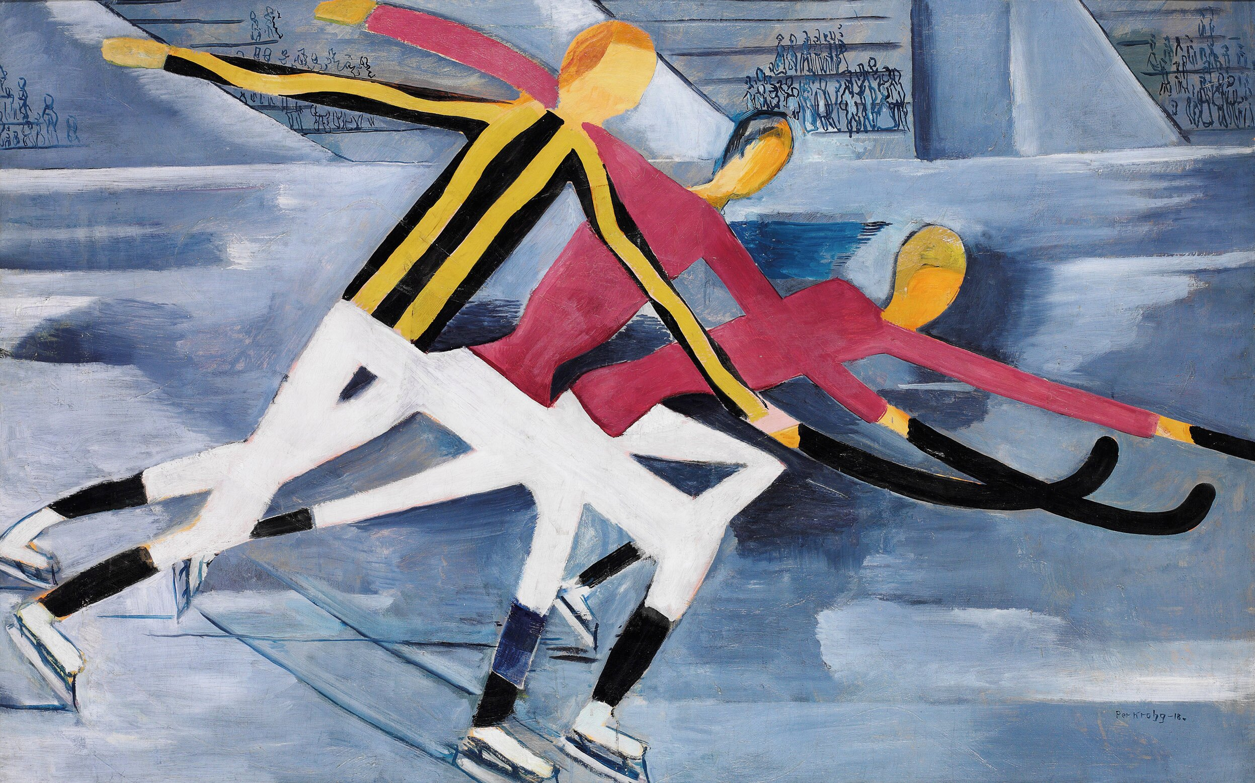 6131. per krohg, hockey 1918