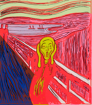 Andy Warhol, The Scream (After Munch) utsnitt.