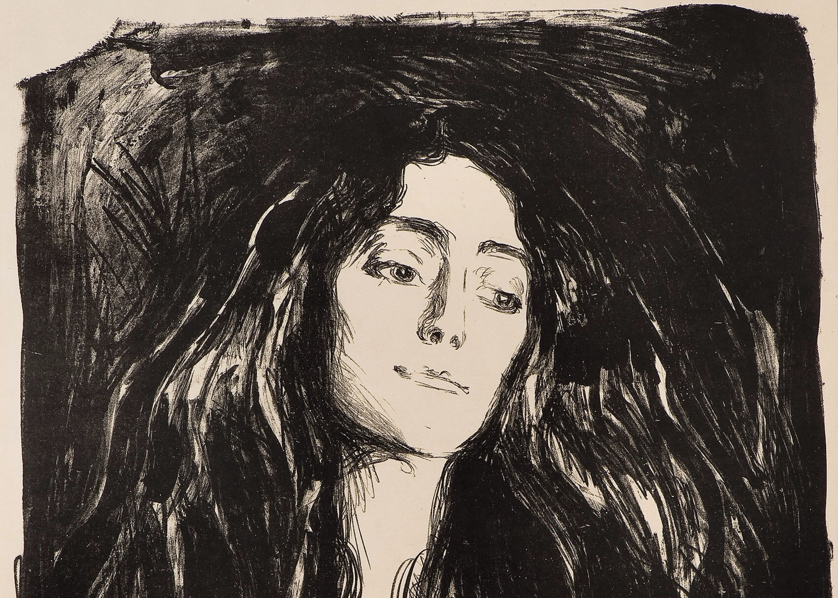 "Cropped: Edvard Munch, The Brooch, Eva Mudocci . Sold for NOK 1.300.000 at ""Focus 1900"" 28 May."