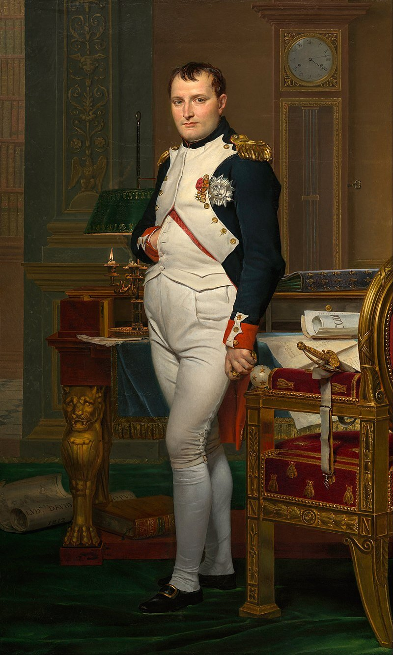 The Emperor Napoleon in His Study at the Tuileries, 1812. Malt av Jacques-Louis David. (Wikimedia commons)